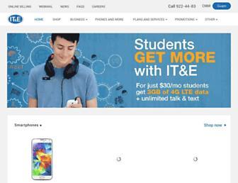 Main page screenshot of ite.net
