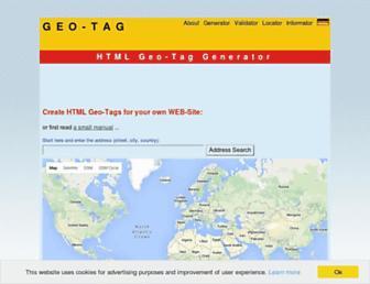 Thumbshot of Geo-tag.de