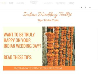 indianweddingtoolkit.com screenshot