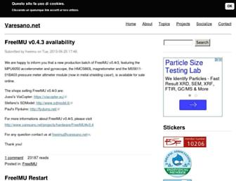 Main page screenshot of varesano.net