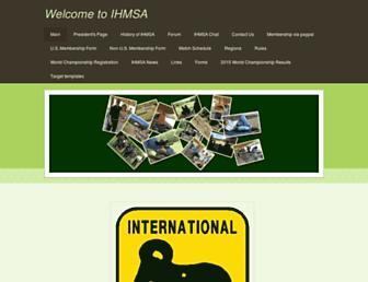 Main page screenshot of ihmsa.org