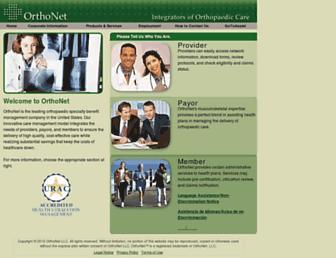 orthonet-online.com screenshot