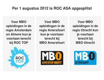Main page screenshot of rocasa.nl