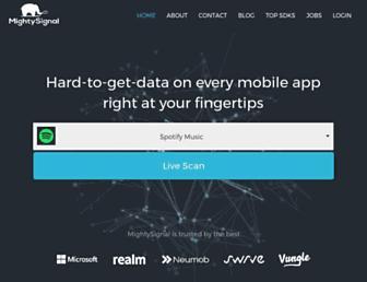 mightysignal.com screenshot