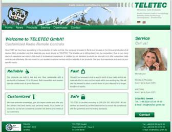 teletec-gmbh.de screenshot