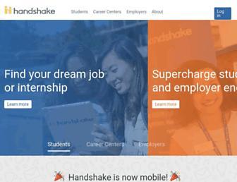 joinhandshake.com screenshot