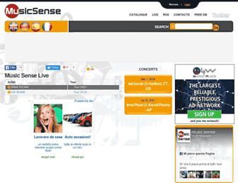 musicsense.org screenshot