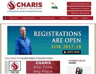 charisbiblecollegeindia.org screenshot