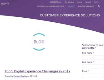 blog.amplexor.com screenshot