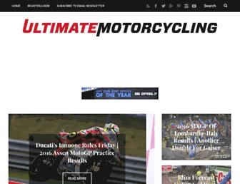 ultimatemotorcycling.com screenshot