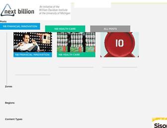 Main page screenshot of nextbillion.net