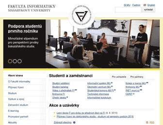 fi.muni.cz screenshot