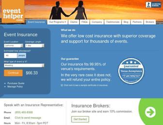 theeventhelper.com screenshot