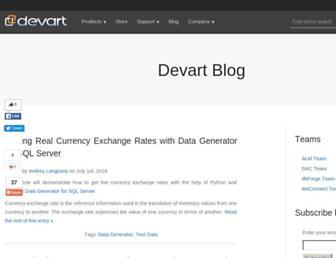blog.devart.com screenshot