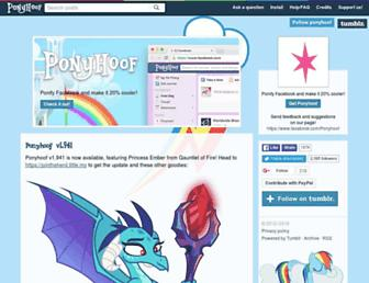 ponyhoof.little.my screenshot