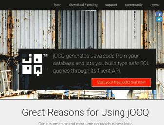 jooq.org screenshot