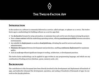 Thumbshot of 12factor.net