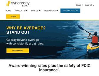 synchronybank.com screenshot