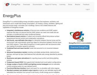 energyplus.net screenshot