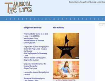 themusicallyrics.com screenshot
