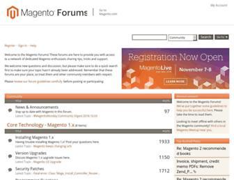 community.magento.com screenshot
