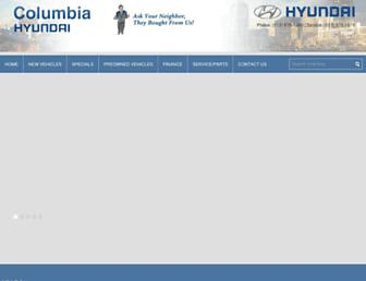 columbiahyundai.com screenshot