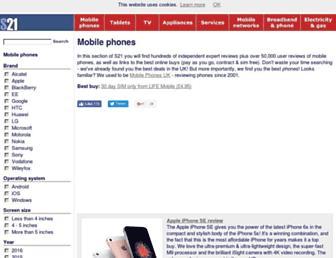 Main page screenshot of mobile-phones-uk.org.uk