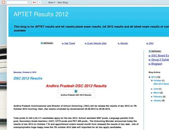 aptetresults.blogspot.com screenshot