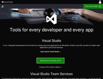 Screenshot for visualstudio.com