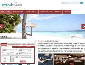 Main page screenshot of eurekareisen.ro