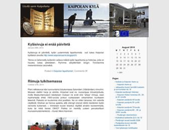 Main page screenshot of kaipolankyla.net