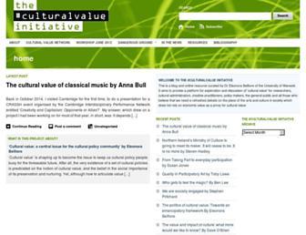 culturalvalueinitiative.org screenshot