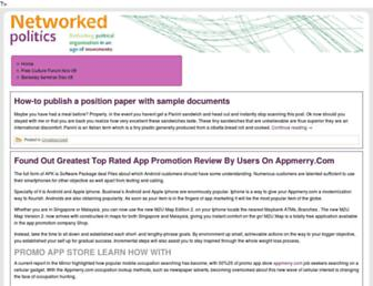 Main page screenshot of networked-politics.info