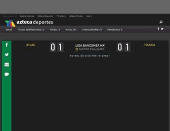 futbolxinternet.aztecadeportes.com screenshot