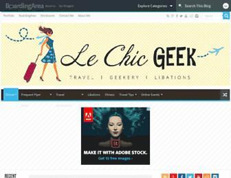 lechicgeek.boardingarea.com screenshot