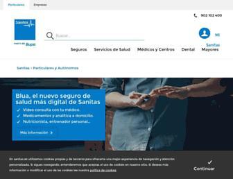 Main page screenshot of sanitas.es