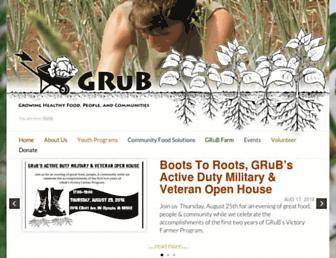 Main page screenshot of goodgrub.org