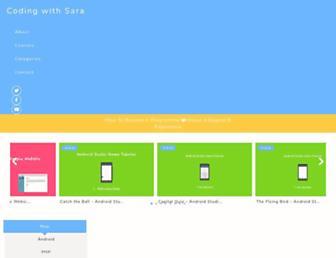 codingwithsara.com screenshot