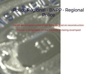 Main page screenshot of bnpppolice.ca