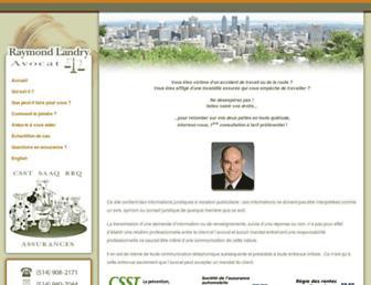 raymondlandry-avocat.com screenshot