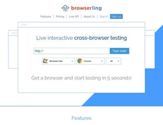 Thumbshot of Browserling.com