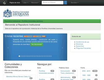 repository.javeriana.edu.co screenshot