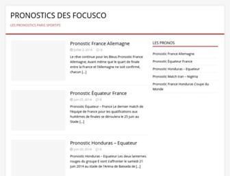 Main page screenshot of focusco.fr