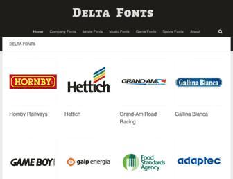 deltafonts.com screenshot