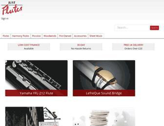justflutes.com screenshot