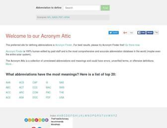 Thumbshot of Acronymattic.com