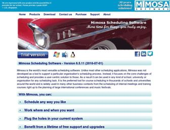 mimosasoftware.com screenshot