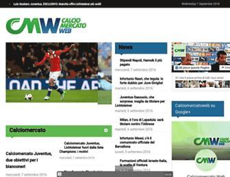 Main page screenshot of calciomercatoweb.it