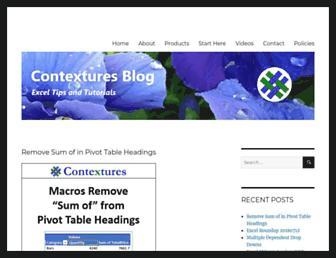 contexturesblog.com screenshot