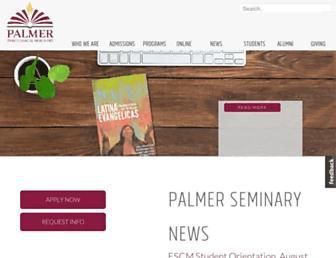 Thumbshot of Palmerseminary.edu